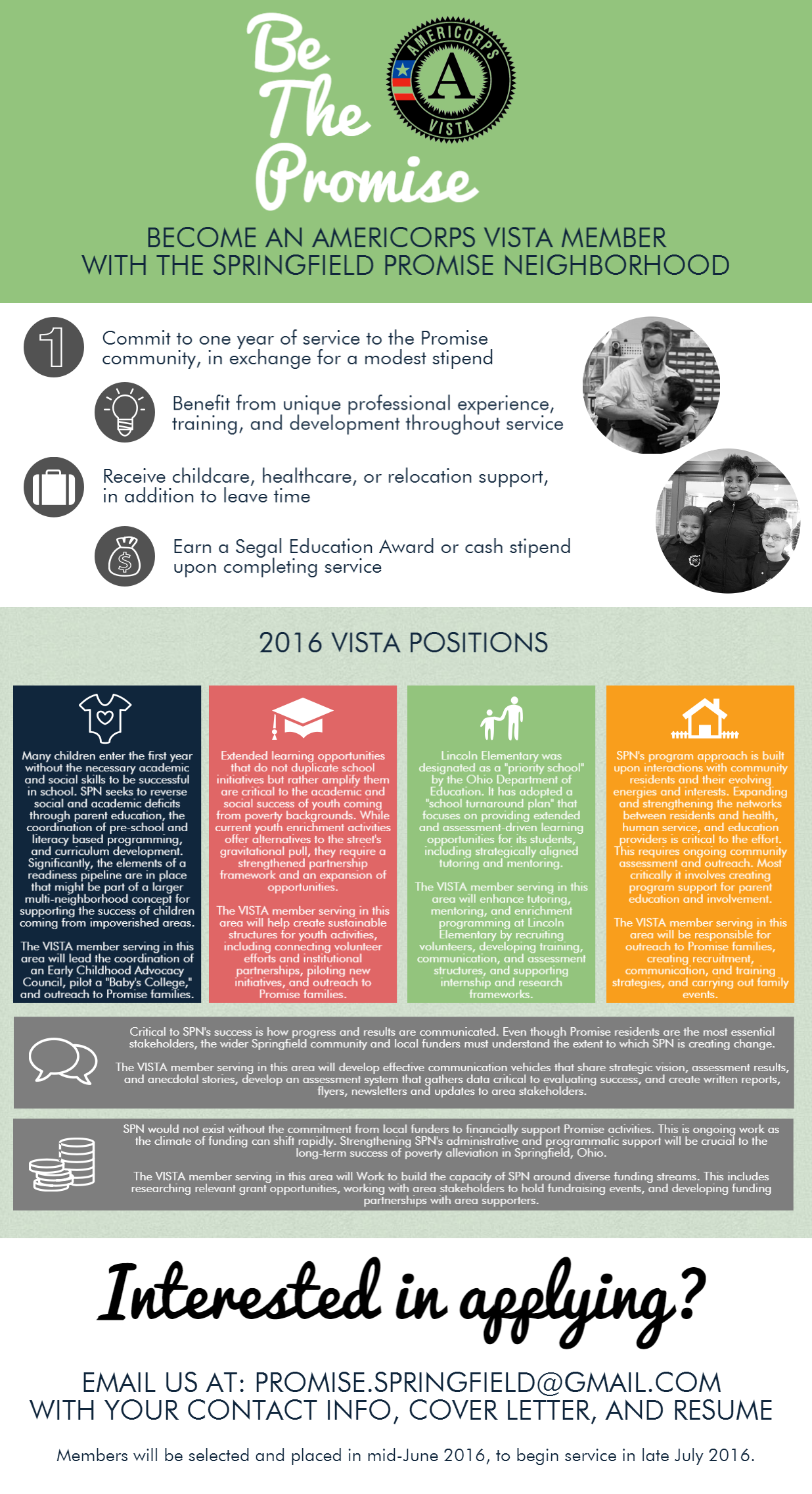 Year Long VISTA Positions