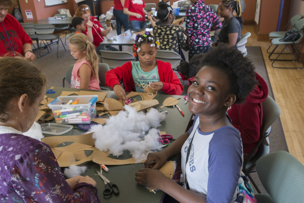 Students Completing A Craft Project